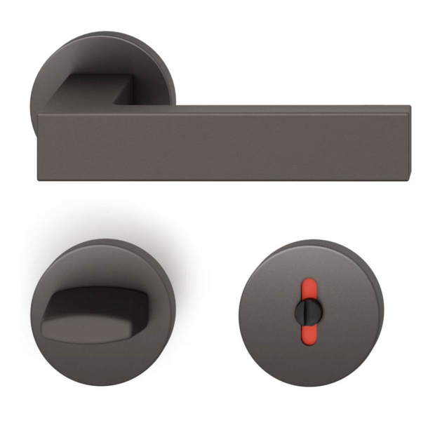 FSB Door handle with privacy lock - Dark bronze - Hartmut Weise - Model 1251