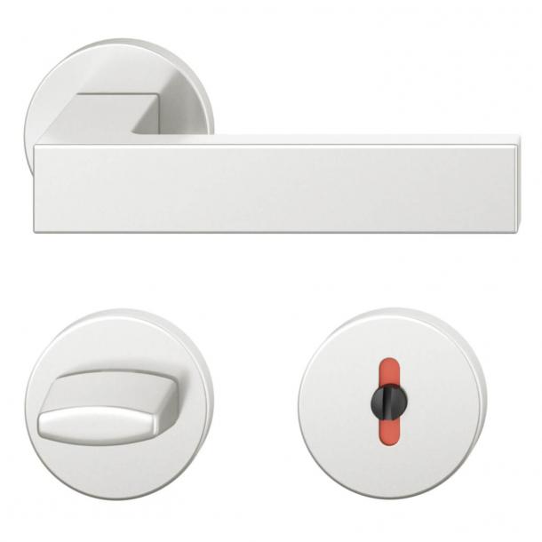FSB Door handle with privacy lock - Brushed aluminium - Hartmut Weise - Model 1251