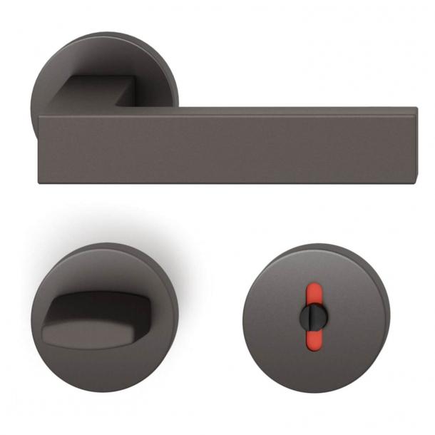 FSB Türgriff mit Toilettenverkleidung - Dunkle Bronze - Hartmut Weise - Modell 1251