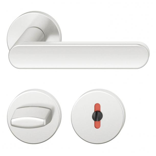 FSB Door handle with privacy lock - Brushed aluminium - FSB Workshop - Model 1259