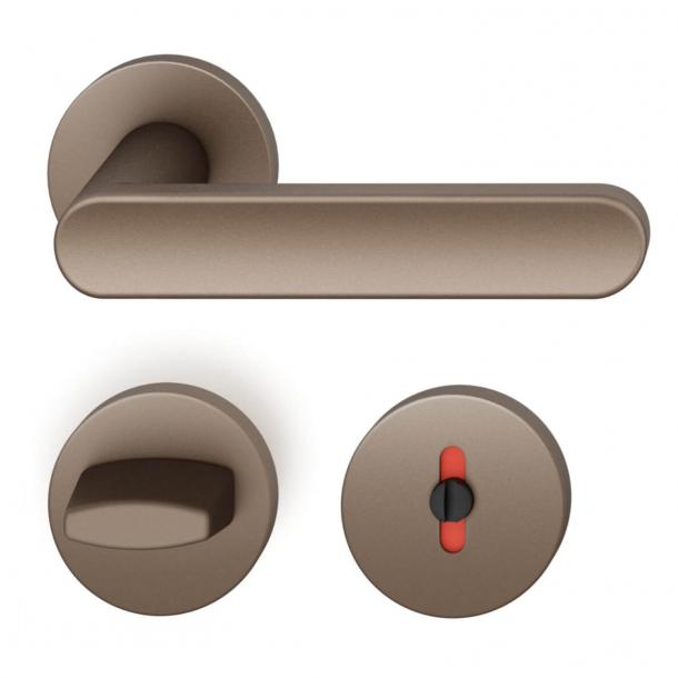 FSB Door handle with privacy lock - Medium bronze - FSB Workshop - Model 1259