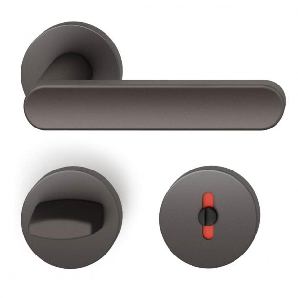 FSB Door handle with privacy lock - Dark bronze - FSB Workshop - Model 1259