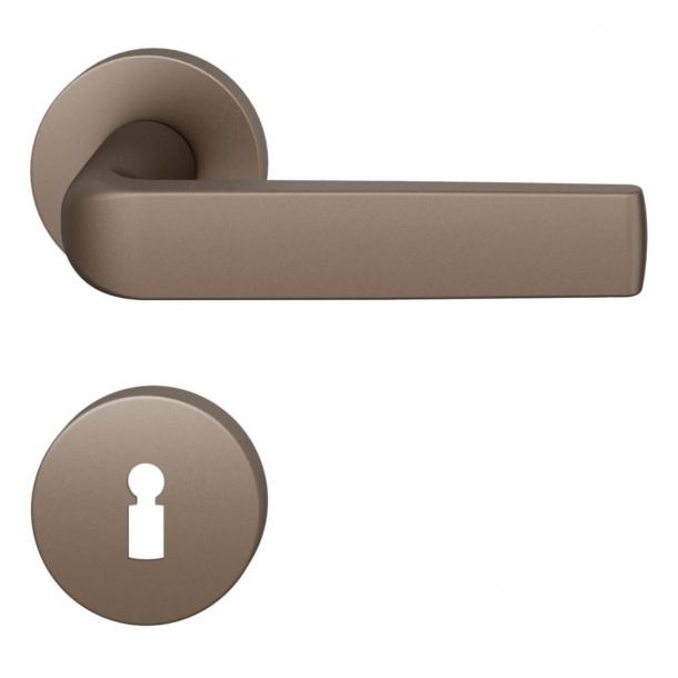 FSB Door handle - Medium bronze brushed aluminium - Mies van der Rohe - Model 1267