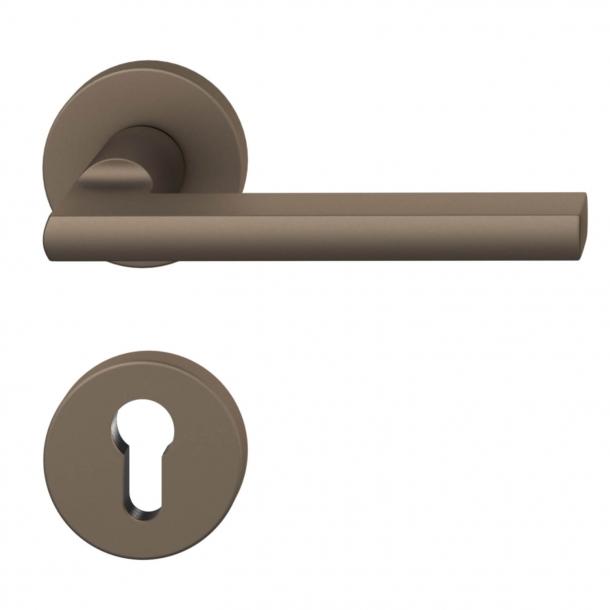 Dørgreb i sandblæst aluminium - Medium Bronze - Udendørs - PZ - Model 1035