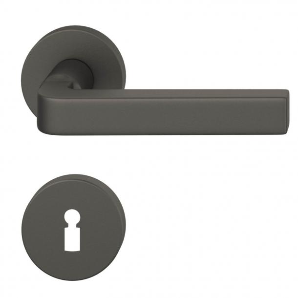 FSB Dörrhandtag - Mörkt brons borstat aluminium - David Chipperfield - modell 1004