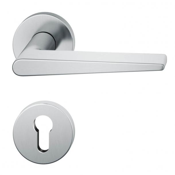 Klamka do drzwi - Rozeta na zamek cylindryczny - Projekt Johannesa Potente - Model 1005
