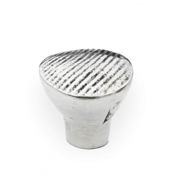 Cabinet knob - Britannium - C60 Country rigato - 30 mm