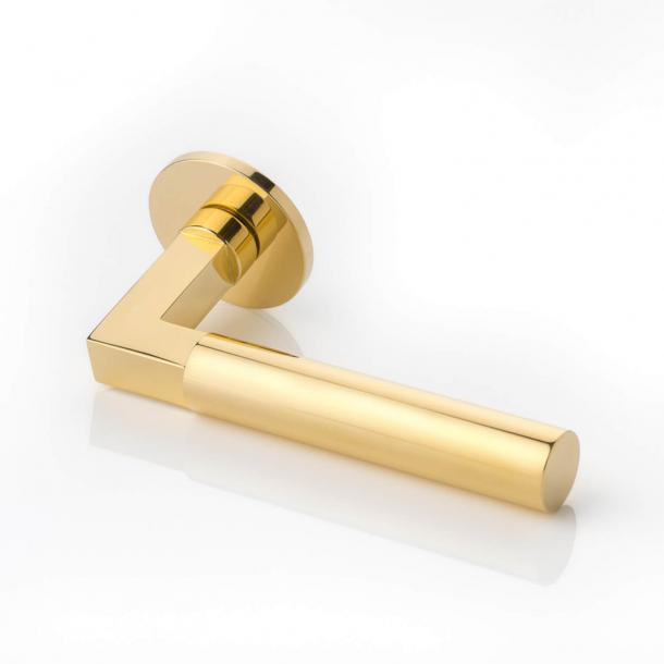 Joseph Giles Door handle - Polished brass - Model LV1086