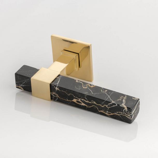 Joseph Giles Dørgreb - Poleret messing / Sort Portoro marmor - Model LV1097