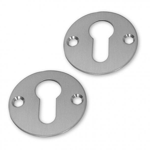 Cylinder ring - Brushed steel - Euro Profile lock including screws