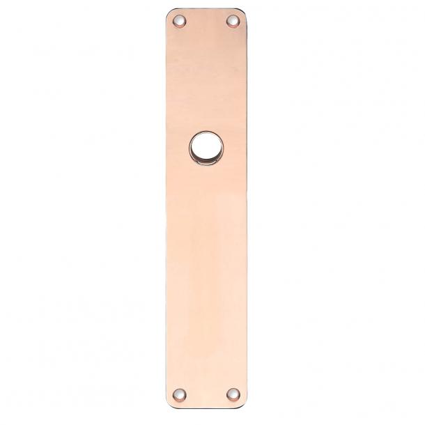 Rückenplatte - Kupfer ohne Lack - RUKO - Türgriffloch ø16 - 220x45x2 mm