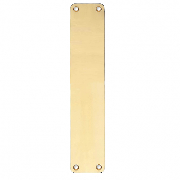 Backplate - Brass without lacquer - Blind sign - 220x45x2 mm