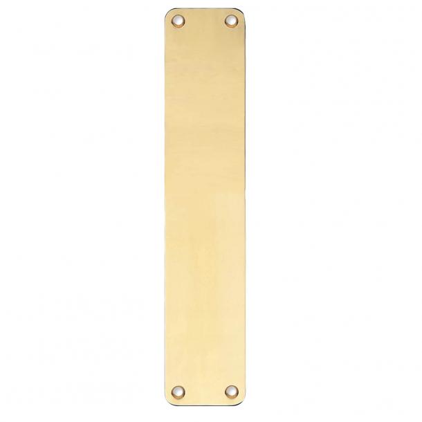 Rückenplatte - Messing ohne Lack - Blindschild - 220x45x2 mm