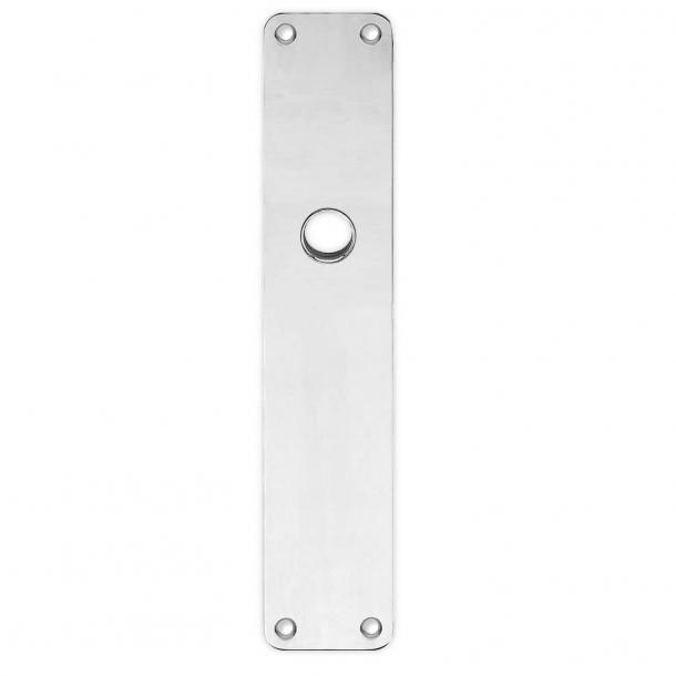 Rückenplatte - Poliertes Nickel - RUKO - Türgriffloch ø16 - 220x45x2 mm