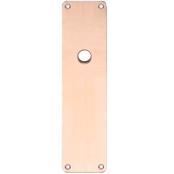 Backplate - Copper without lacquer - RUKO - door handle hole ø16 - 235x55x2 mm