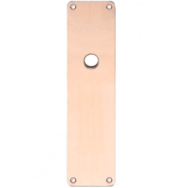 Rückenplatte - Kupfer ohne Lack - RUKO - Türgriffloch ø16 - 235x55x2 mm
