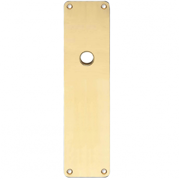 Backplate - Brass without lacquer - RUKO - door handle hole ø15 - 235x55x2 mm