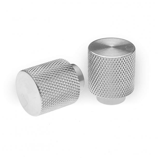 Möbelknopp - Borstat rostfritt stål - Villa Workshop - 20 mm x 25 mm
