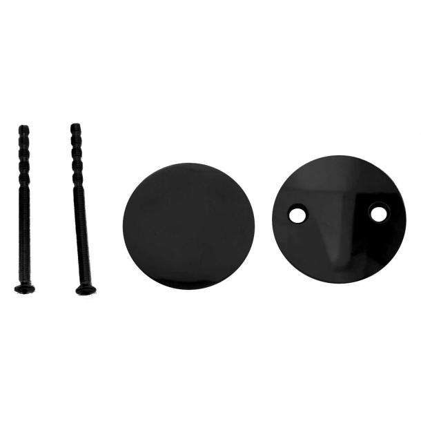 Blindskilt (sæt) - Sort cc 30 mm
