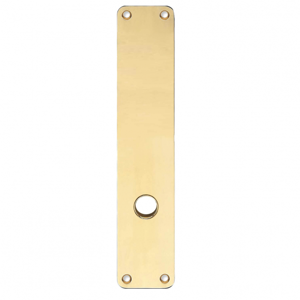 Backplate with grip hole - Brass without lacquered - 220 x 45 x 2 mm