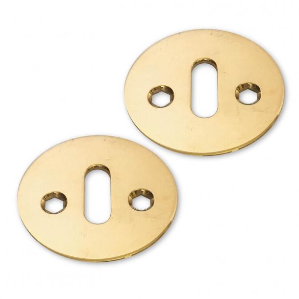 Arne Jacobsen escutcheon - Oval brass