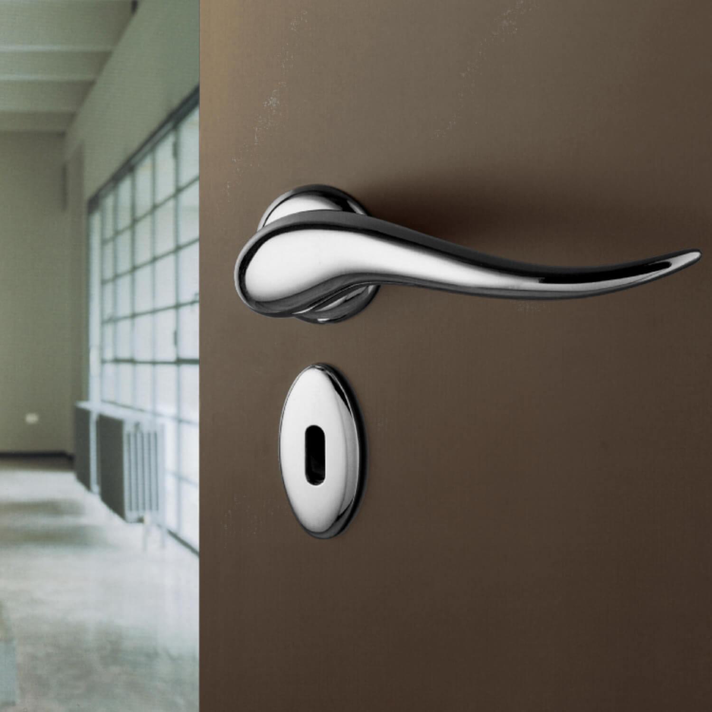 Chrome Door Handles >> Philippe Starck door handle - Satin Chrome - Model APRITI ...