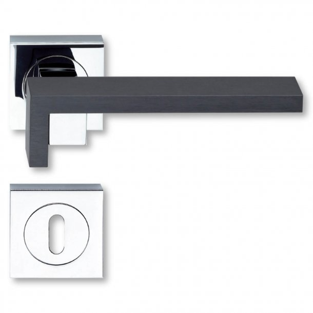 Door handle - Chrome Plated / Graphite - Model Graphite