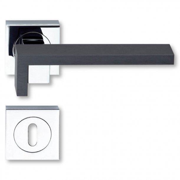 Door handle - Chrome Plated / Graphite - Model Grafite