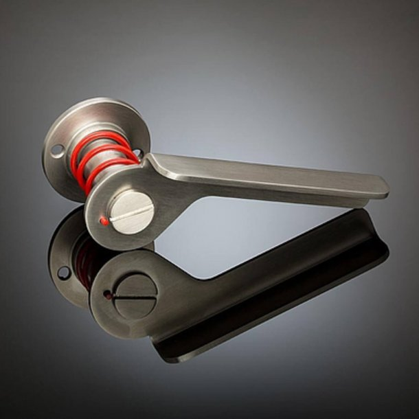 Door handle - Satin Chrome / Red spiral - SVING