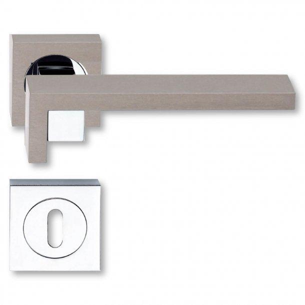 Door handle - Nickel satin / Graphite - Model Graphite