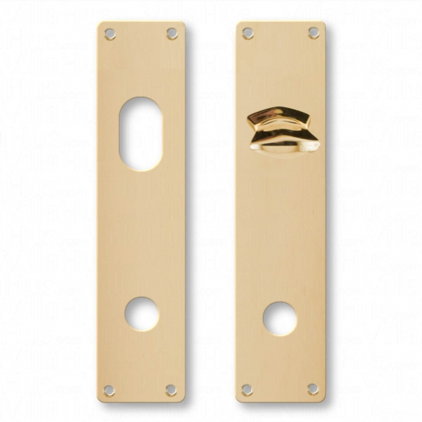 Door back plate Cylinder out - Thumb turn interior - Brass without lacquer