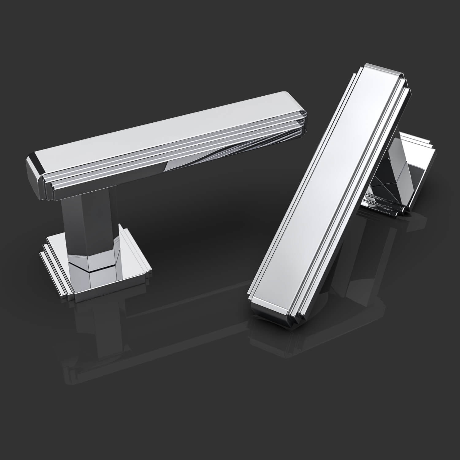 Door handles - Chrome - Oliver Knights