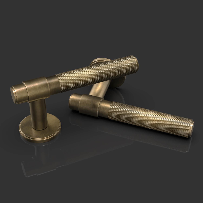 Door handles - Antique brass - Oliver Knights