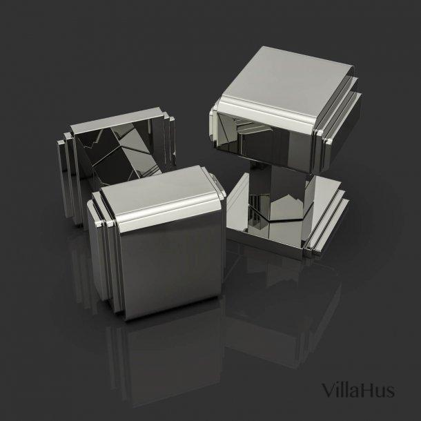 Klamki do drzwi - niklowane - Oliver Knights - model ARM DK