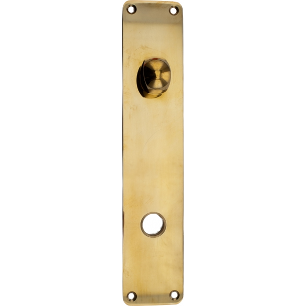 Door backplate with turn - Brass without lacquer