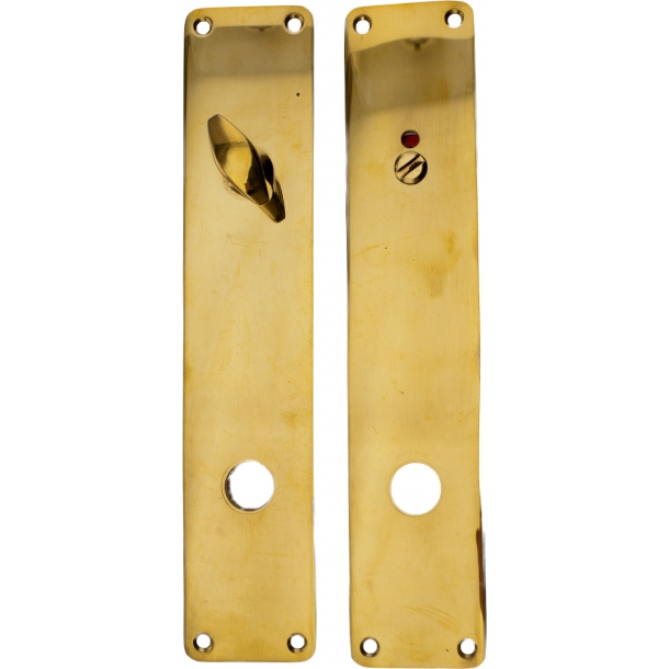 door backplates WC - ASSA 45 mm - Brass without lacquer
