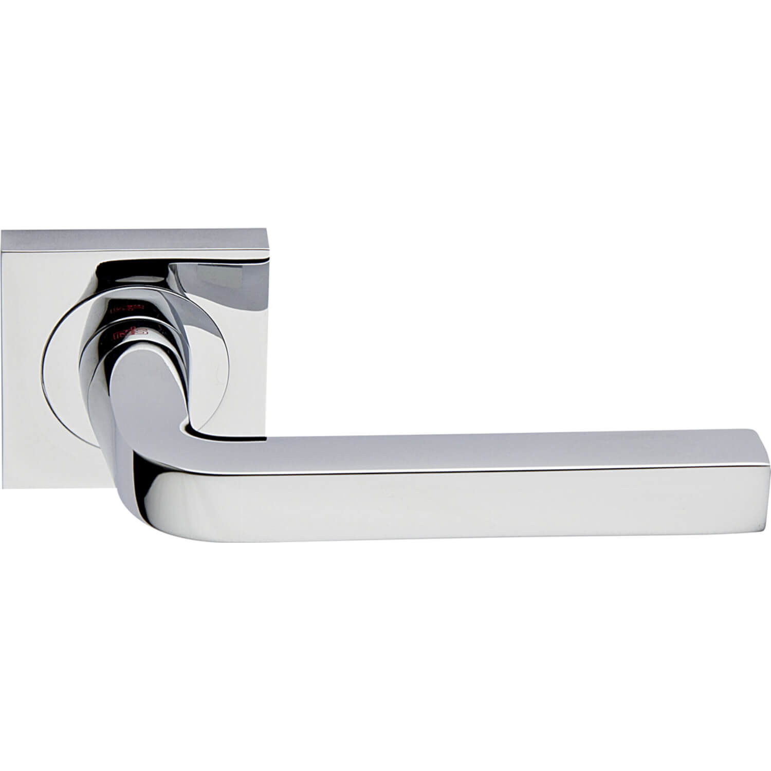 Door Handle Polished Chrome Interior Milano Square Chrome And Nickel Door Handles