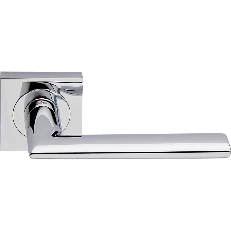 Chrome Door Handles >> Door Handle Polished Chrome Interior Verona Square Chrome And