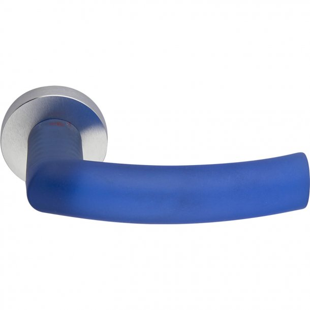 Door handle, Satin Chrome/Blue, Interior, ODESSA