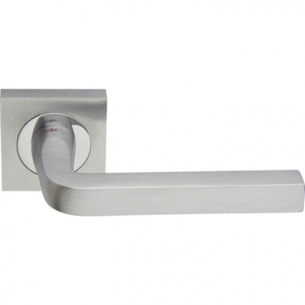 Door handle, Satin Chrome/Polished Chrome, Interior, MILANO SQUARE