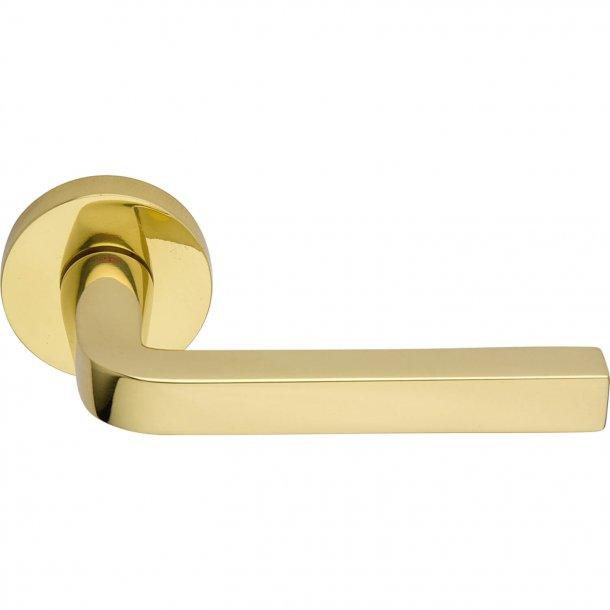 Door handle, Polished brass, Interior, MILANO