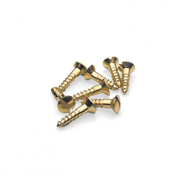 Brass wood screws - Slotted - 3x12 mm (8 pcs.)