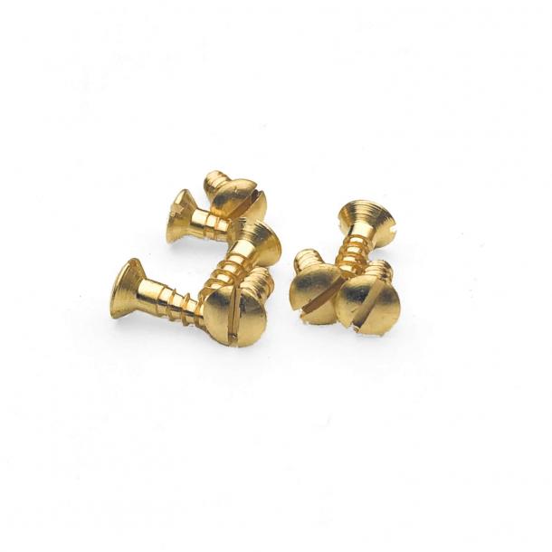 Brass wood screws - Slotted - 3,5x12 mm (8 pcs.)