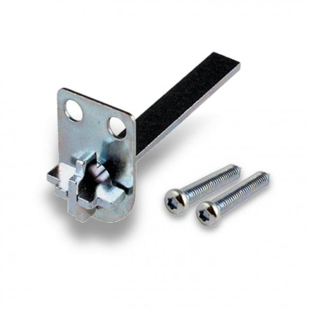 Medbringer til vridergreb til oval RUKO cylinder - Inkl. 2 stk. skruer