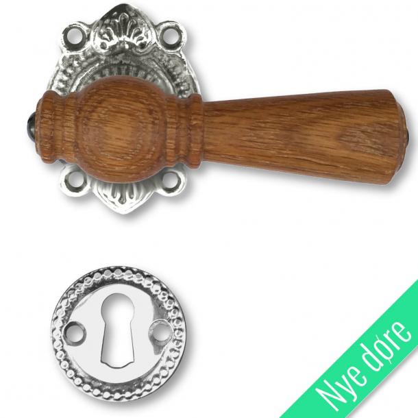 Trädörrhandtag, inomhus - Almue, Nickel, Oak, Tangentbord utan flik - Nya dörrar