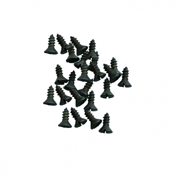 Black wood screws - Slotted - For older doors