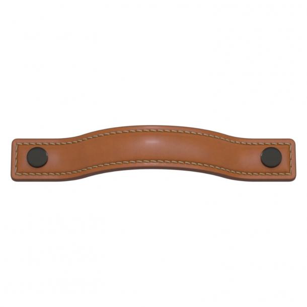 Uchwyt do mebli - Turnstyle Designs - Skóra brązowa / Brąz antyczny - Model A1180
