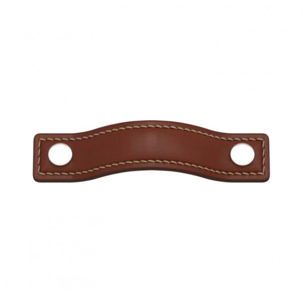 Turnstyle Designs Møbelgreb - Kastanjefarvet læder / Poleret nikkel - Model A1181