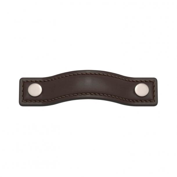 Turnstyle Designs Möbelhandtag - Chokladfärgat läder / Satäng nickel - Modell A1181