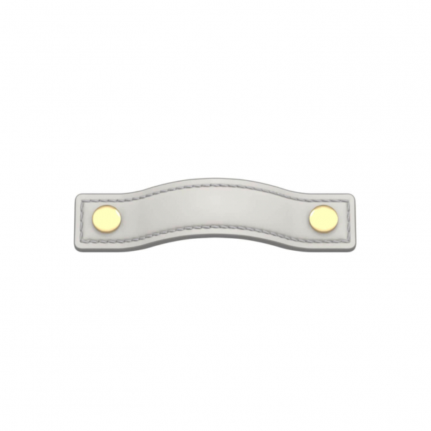 Turnstyle Designs Møbelgreb - Hvidt læder / Poleret messing - Model A1182